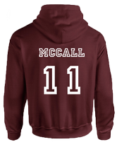 BEACON HILLS LACROSSE ON FRONT MCCALL ON BACK HOODIE - INSPIRED BY TEEN WOLF
